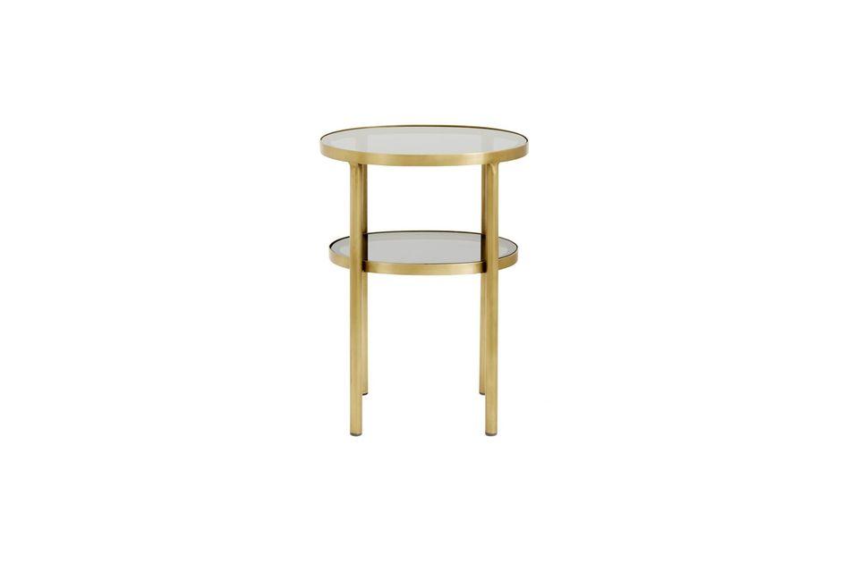 Una mesa lateral ovalada de dos pisos