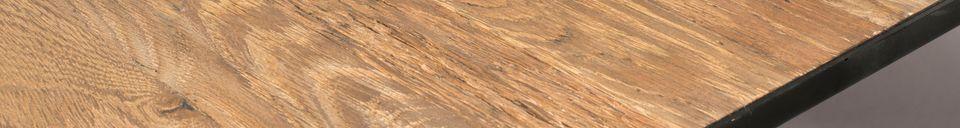 Descriptivo Materiales  Mesa Pepper marrón