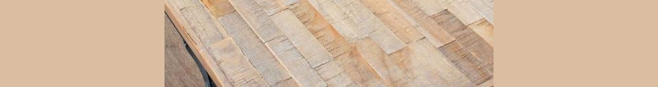 Descriptivo Materiales  Mesa plegable Market en teca reciclada