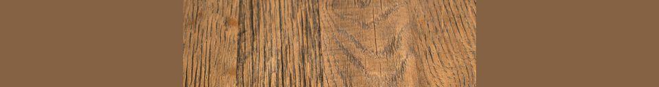 Descriptivo Materiales  Mesa redonda Bistro Braza marrón
