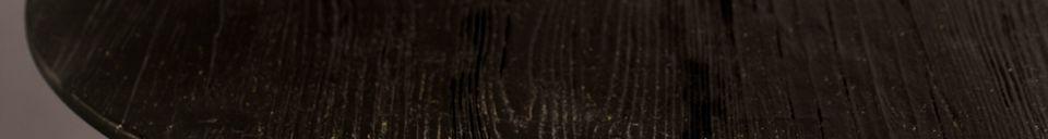 Descriptivo Materiales  Mesa redonda de Bistro Braza negro