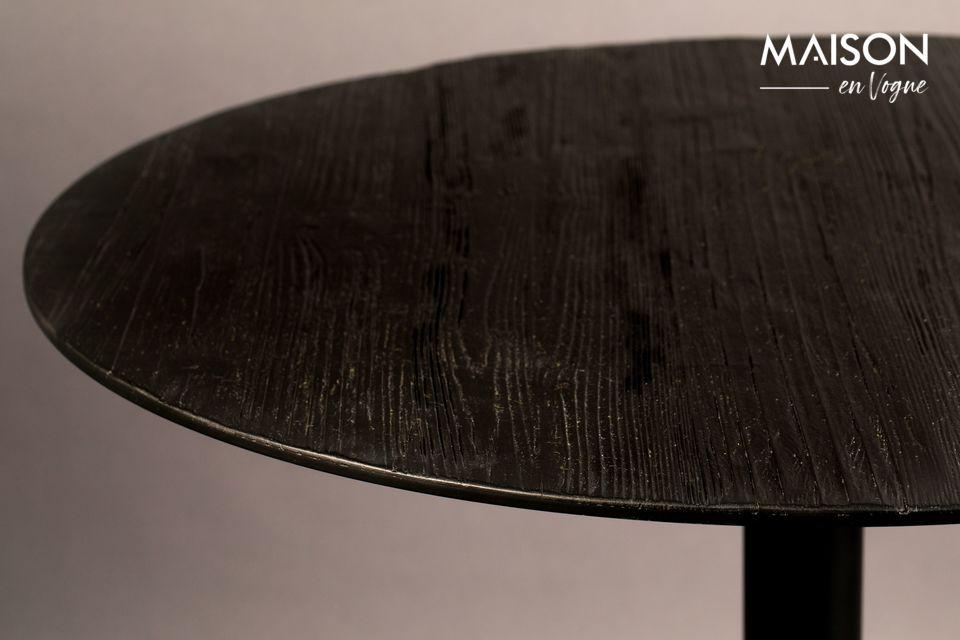 Mesa redonda de Bistro Braza negro - 6