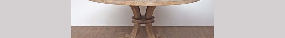 Descriptivo Materiales  Mesa redonda en madera Valbelle