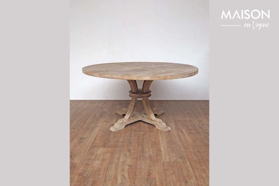 Mesa redonda en madera Valbelle Chehoma