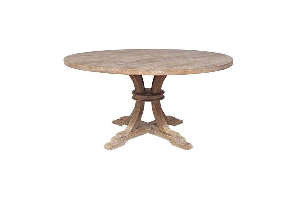 La mesa Vabelle de Chehoma le ofrece la opción de un look retro con su mesa redonda de estilo