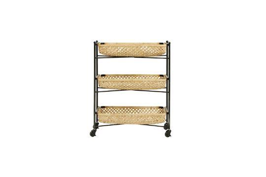 Mesa Sault con cestas de bambú