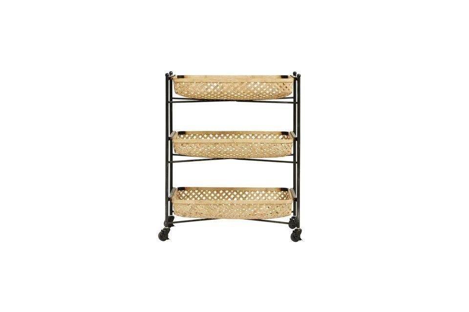 Mesa Sault con cestas de bambú Nordal