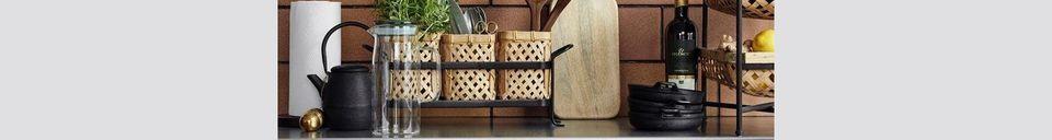Descriptivo Materiales  Mesa Sault con cestas de bambú