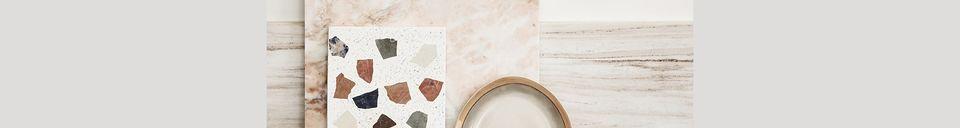 Descriptivo Materiales  Meseta Tauxigny en mármol y terrazo