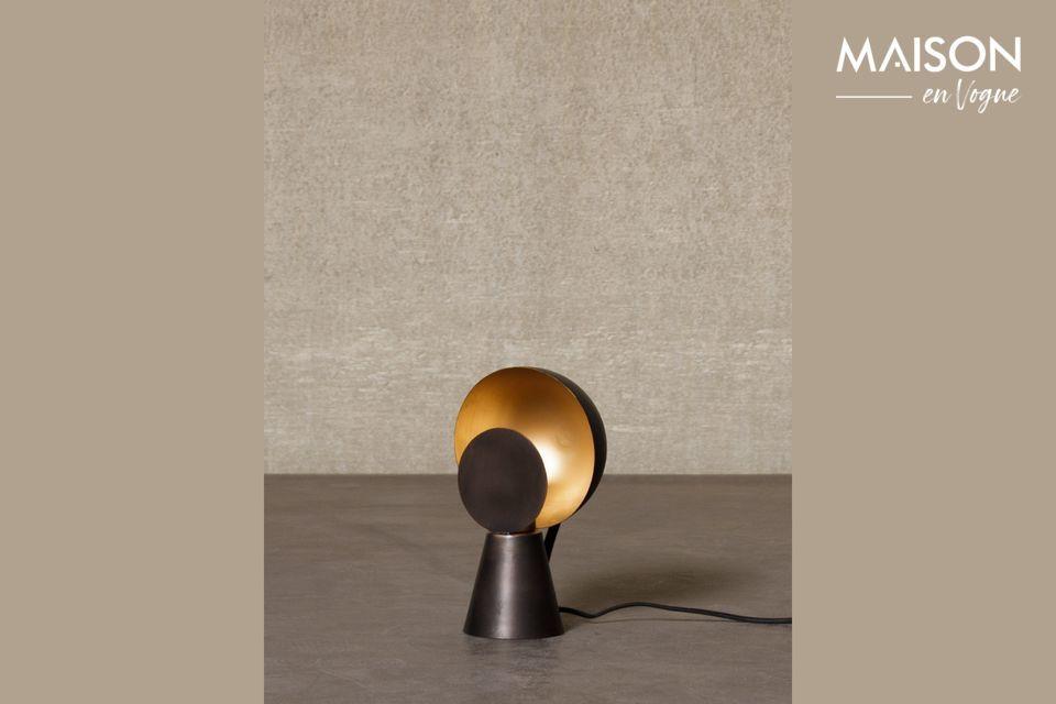 Mini lámpara Hide & Seek negra y dorada Chehoma
