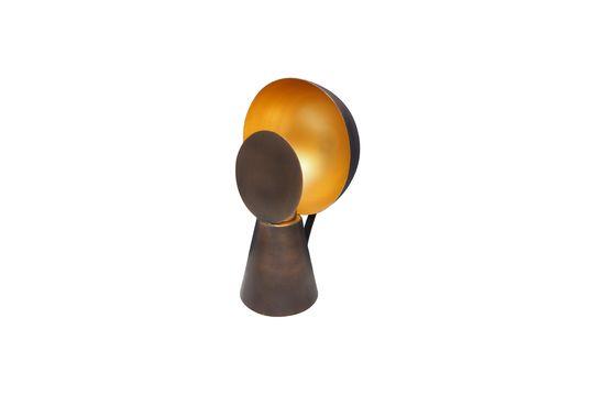 Mini lámpara Hide & Seek negra y dorada Clipped