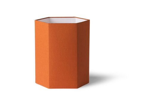 Pantalla de lámpara Maltat de yute naranja tamaño M