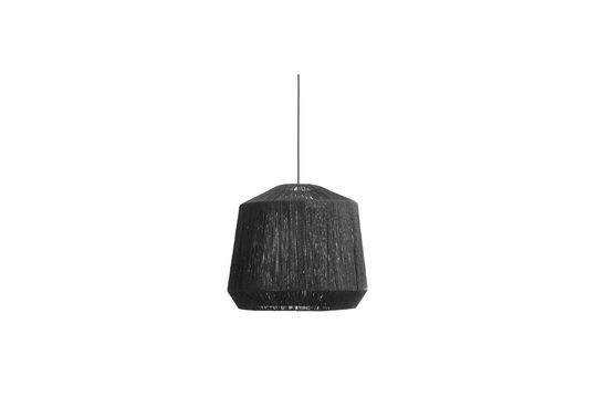 Pantalla de lámpara negra de yute
