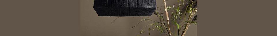 Descriptivo Materiales  Pantalla de lámpara negra de yute