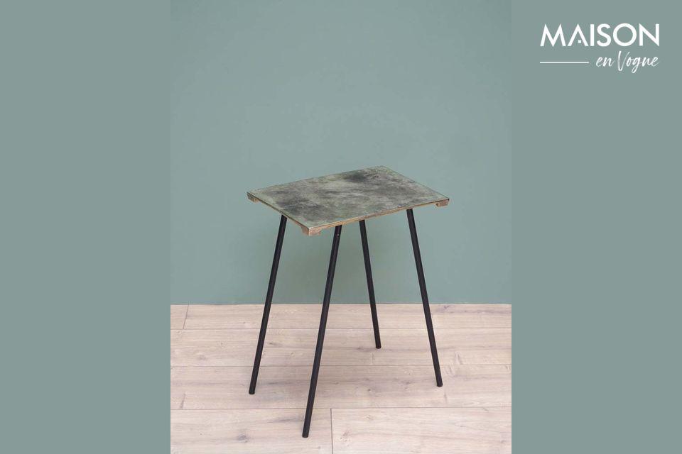 Pequeña mesa lateral de aluminio Aleyrac Chehoma
