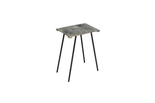 Pequeña mesa lateral de aluminio Aleyrac
