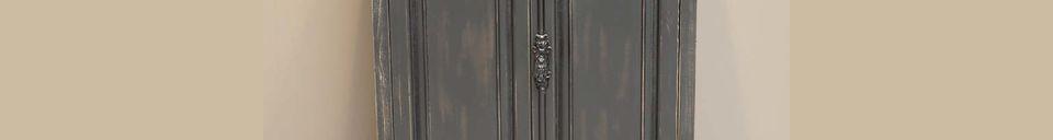 Descriptivo Materiales  Pequeño armario negro en madera Pretoria