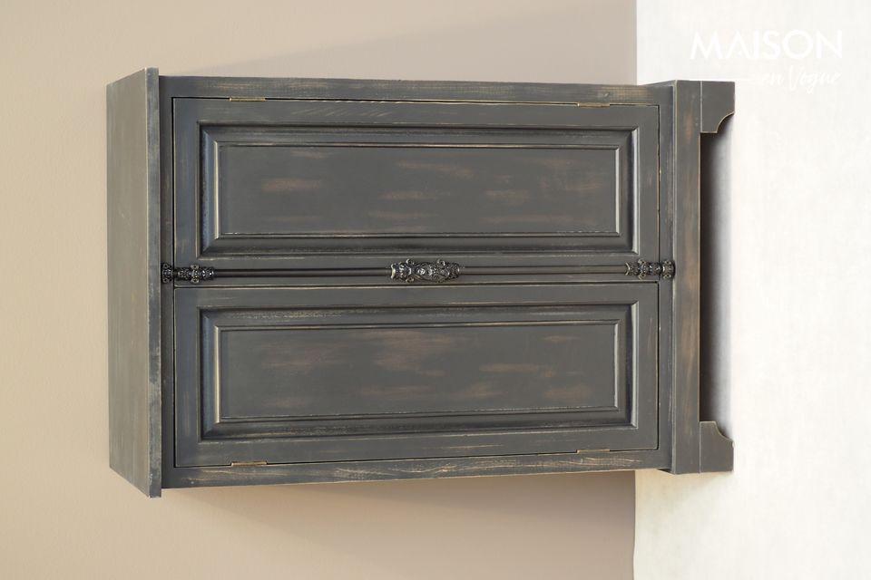 Pequeño armario negro en madera Pretoria Chehoma