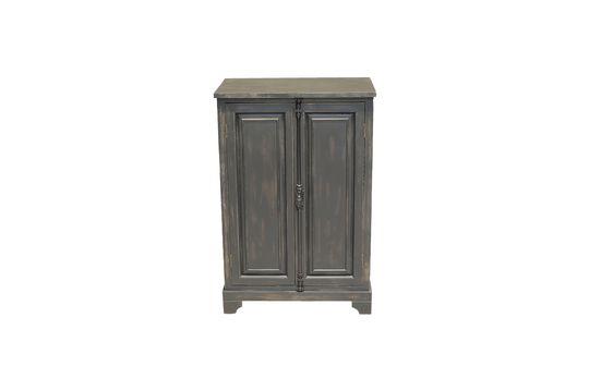 Pequeño armario negro en madera Pretoria Clipped