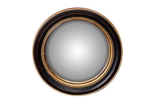 Pequeño espejo convexo Brassy Clipped
