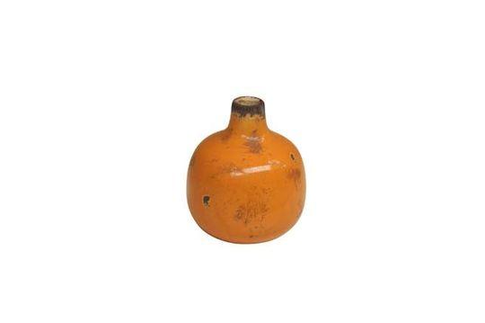 Pequeño jarrón de cerámica amarilla Agujero