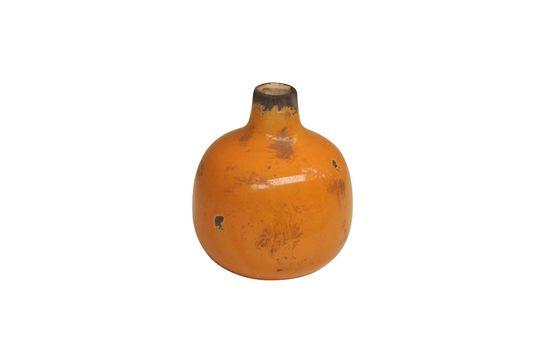 Pequeño jarrón de cerámica amarilla Agujero Clipped