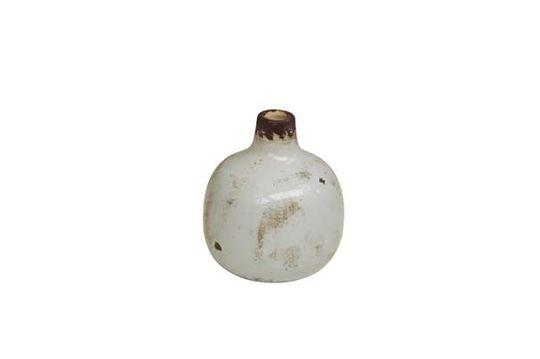 Pequeño jarrón de cerámica blanca Agujero Clipped
