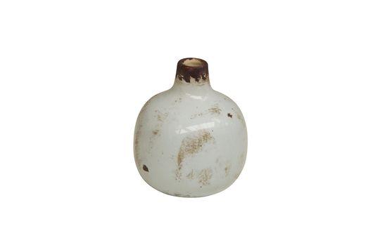 Pequeño jarrón de cerámica blanca Agujero