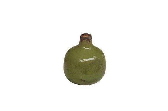 Pequeño jarrón de cerámica verde Agujero