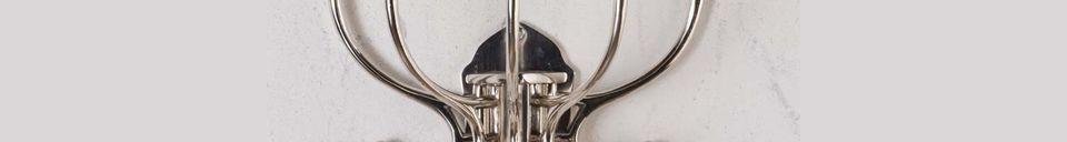 Descriptivo Materiales  Perchero circular de Chaumont 5 ganchos con pátina de níquel