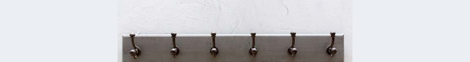 Descriptivo Materiales  Perchero Leyment 6 ganchos de hierro fundido