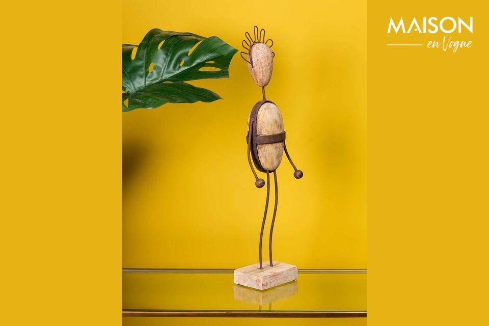 ¿Busca un objeto decorativo único para su casa? ¡Entonces este pequeño con un peinado gracioso
