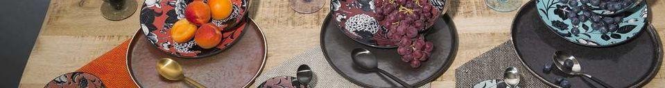 Descriptivo Materiales  Plato de cena Porcelino Experience