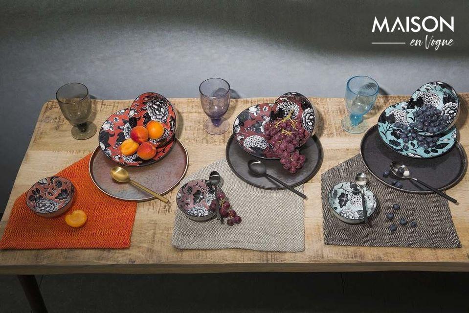 Plato de la cena Porcelino Experience negro