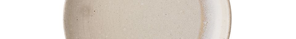 Descriptivo Materiales  Plato de gres Columbine