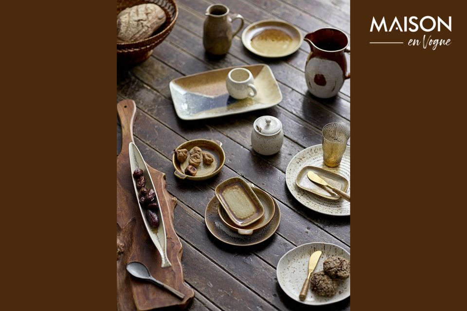Una placa de gres para sublimar la artesanía en la mesa