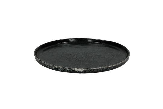 Plato de postre negro Porcelino Experience