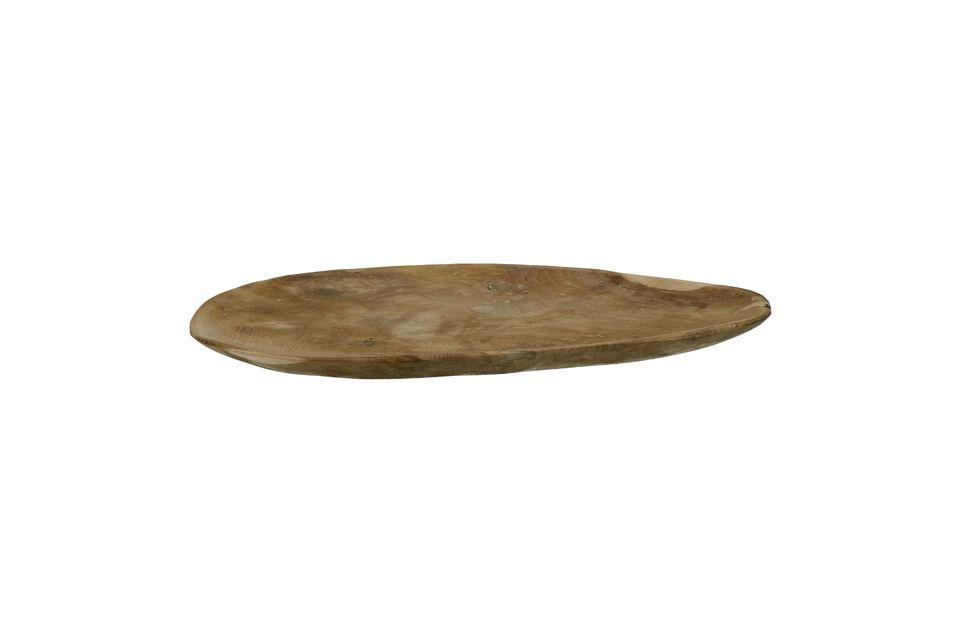 Dale carácter a la presentación de tus platos con el plato ovalado del Algarve hecho de madera de