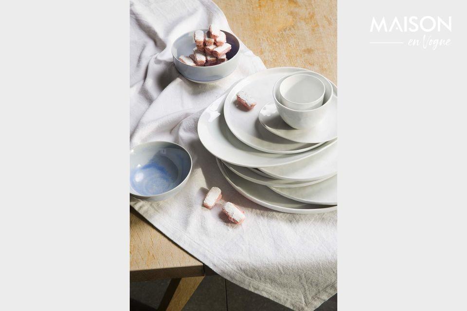 Plato de presentación de porcelana