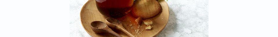 Descriptivo Materiales  Plato redondo de teca con mango Algarve
