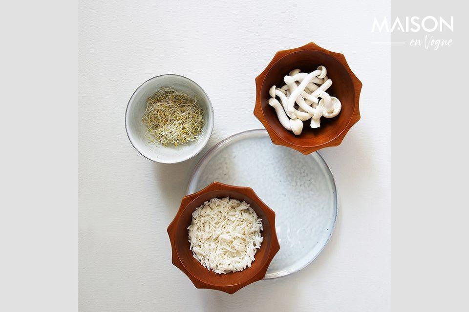 Ideal para el desayuno, este plato de Vasselin tiene un borde alto