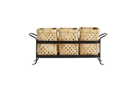 Porta canasta de bambú Rodern Clipped