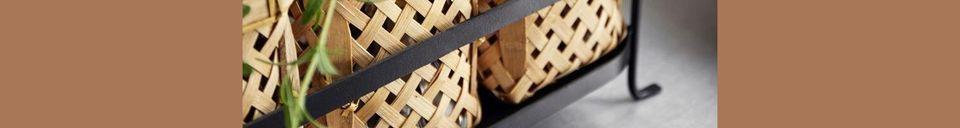 Descriptivo Materiales  Porta canasta de bambú Rodern