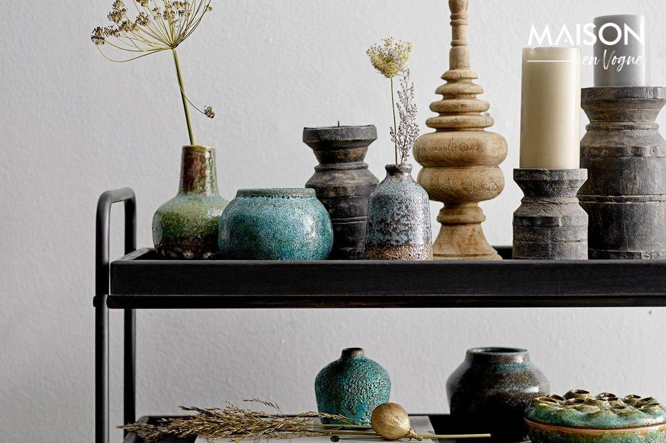 Juegos de 6 exóticos candelabros negros