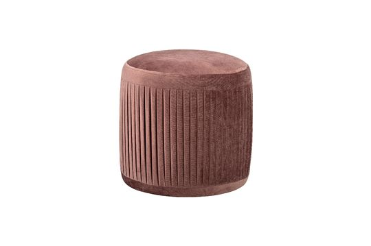 Pouf Pleat de poliéster rosa Clipped