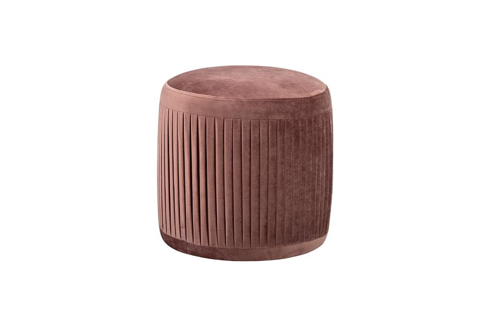 Pouf Pleat de poliéster rosa Bloomingville