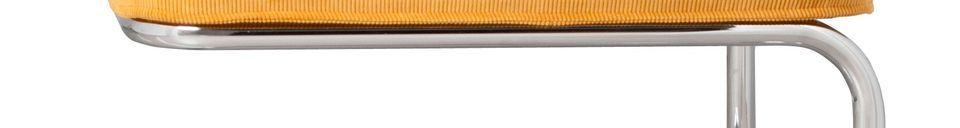 Descriptivo Materiales  Pouf Ridge Rib amarillo