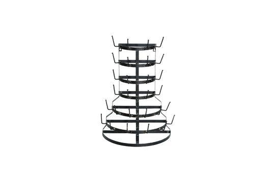 Rack Mouriez en metal negro Clipped