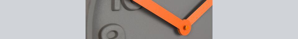 Descriptivo Materiales  Reloj Concrete Time naranja