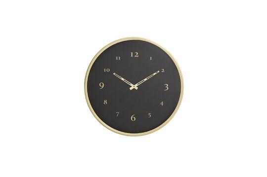 Reloj de pared de metal Saisy Clipped
